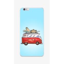 Funda Gel Tpu para Iphone 6 / 6S Diseño Furgoneta Dibujos