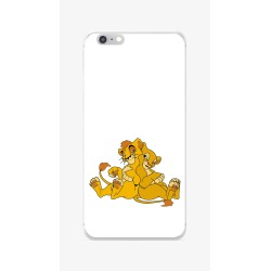 Funda Gel Tpu para Iphone 6 / 6S Diseño Leones Dibujos