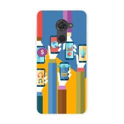 Funda Gel Tpu para Vodafone Smart Platinum 7 Diseño Apps Dibujos