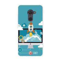 Funda Gel Tpu para Vodafone Smart Platinum 7 Diseño Cohete Dibujos