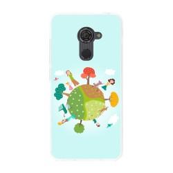Funda Gel Tpu para Vodafone Smart Platinum 7 Diseño Familia Dibujos