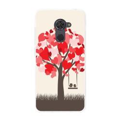 Funda Gel Tpu para Vodafone Smart Platinum 7 Diseño Pajaritos Dibujos