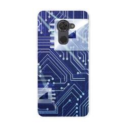 Funda Gel Tpu para Vodafone Smart Platinum 7 Diseño Circuito Dibujos