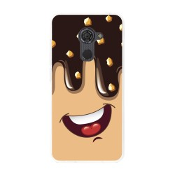 Funda Gel Tpu para Vodafone Smart Platinum 7 Diseño Helado Chocolate Dibujos