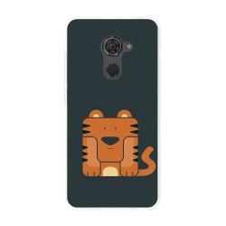 Funda Gel Tpu para Vodafone Smart Platinum 7 Diseño Tigre Dibujos