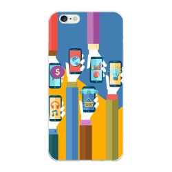 Funda Gel Tpu para Iphone 6 Plus / 6S Plus Diseño Apps Dibujos