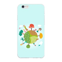 Funda Gel Tpu para Iphone 6 Plus / 6S Plus Diseño Familia Dibujos
