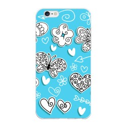 Funda Gel Tpu para Iphone 6 Plus / 6S Plus Diseño Mariposas Dibujos