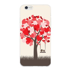 Funda Gel Tpu para Iphone 6 Plus / 6S Plus Diseño Pajaritos Dibujos