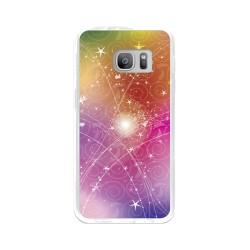 Funda Gel Tpu para Samsung Galaxy S7 Diseño Abstracto Dibujos