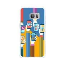 Funda Gel Tpu para Samsung Galaxy S7 Diseño Apps Dibujos
