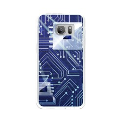 Funda Gel Tpu para Samsung Galaxy S7 Diseño Circuito Dibujos