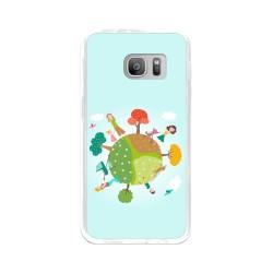 Funda Gel Tpu para Samsung Galaxy S7 Diseño Familia Dibujos