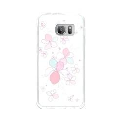 Funda Gel Tpu para Samsung Galaxy S7 Diseño Flores-Minimal Dibujos