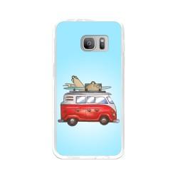Funda Gel Tpu para Samsung Galaxy S7 Diseño Furgoneta Dibujos