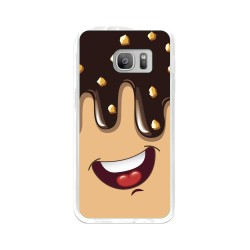 Funda Gel Tpu para Samsung Galaxy S7 Diseño Helado Chocolate Dibujos