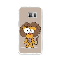 Funda Gel Tpu para Samsung Galaxy S7 Diseño Leon Dibujos