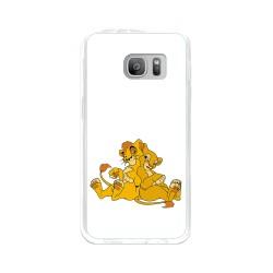 Funda Gel Tpu para Samsung Galaxy S7 Diseño Leones Dibujos