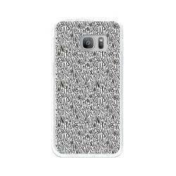 Funda Gel Tpu para Samsung Galaxy S7 Diseño Letras Dibujos