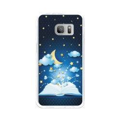 Funda Gel Tpu para Samsung Galaxy S7 Diseño Libro-Cuentos Dibujos