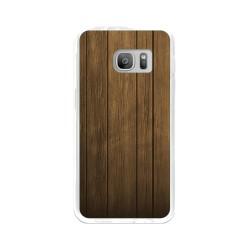 Funda Gel Tpu para Samsung Galaxy S7 Diseño Madera Dibujos