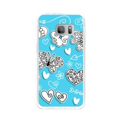 Funda Gel Tpu para Samsung Galaxy S7 Diseño Mariposas Dibujos
