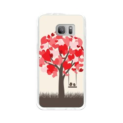 Funda Gel Tpu para Samsung Galaxy S7 Diseño Pajaritos Dibujos
