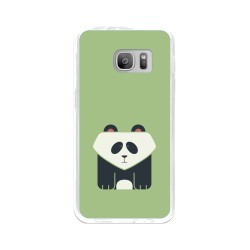 Funda Gel Tpu para Samsung Galaxy S7 Diseño Panda Dibujos