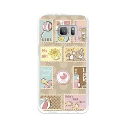 Funda Gel Tpu para Samsung Galaxy S7 Diseño Sellos Dibujos
