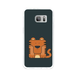 Funda Gel Tpu para Samsung Galaxy S7 Diseño Tigre Dibujos