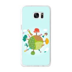 Funda Gel Tpu para Samsung Galaxy S7 Edge Diseño Familia Dibujos