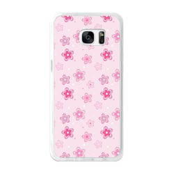 Funda Gel Tpu para Samsung Galaxy S7 Edge Diseño Flores Dibujos