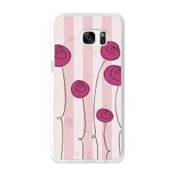 Funda Gel Tpu para Samsung Galaxy S7 Edge Diseño Flores Vintage Dibujos