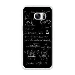 Funda Gel Tpu para Samsung Galaxy S7 Edge Diseño Formulas Dibujos