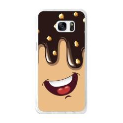 Funda Gel Tpu para Samsung Galaxy S7 Edge Diseño Helado Chocolate Dibujos