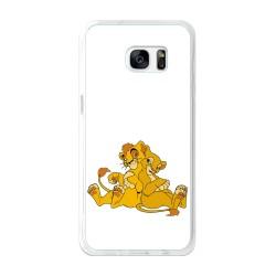 Funda Gel Tpu para Samsung Galaxy S7 Edge Diseño Leones Dibujos
