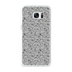 Funda Gel Tpu para Samsung Galaxy S7 Edge Diseño Letras Dibujos