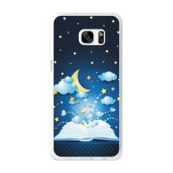 Funda Gel Tpu para Samsung Galaxy S7 Edge Diseño Libro-Cuentos Dibujos