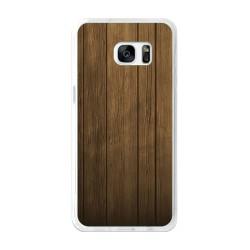 Funda Gel Tpu para Samsung Galaxy S7 Edge Diseño Madera Dibujos