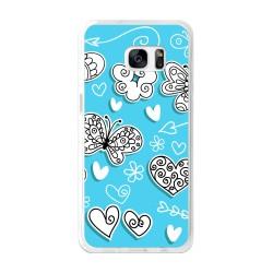 Funda Gel Tpu para Samsung Galaxy S7 Edge Diseño Mariposas Dibujos