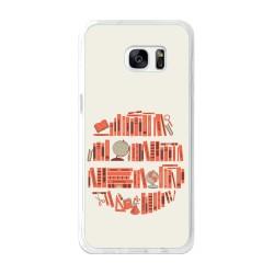 Funda Gel Tpu para Samsung Galaxy S7 Edge Diseño Mundo-Libro Dibujos