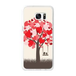 Funda Gel Tpu para Samsung Galaxy S7 Edge Diseño Pajaritos Dibujos