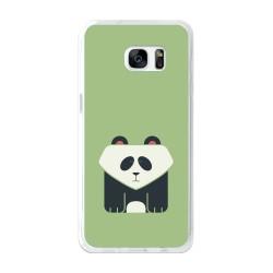 Funda Gel Tpu para Samsung Galaxy S7 Edge Diseño Panda Dibujos