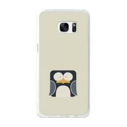 Funda Gel Tpu para Samsung Galaxy S7 Edge Diseño Pingüino Dibujos