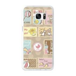 Funda Gel Tpu para Samsung Galaxy S7 Edge Diseño Sellos Dibujos