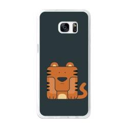 Funda Gel Tpu para Samsung Galaxy S7 Edge Diseño Tigre Dibujos