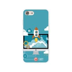 Funda Gel Tpu para Iphone 7 /  8 Diseño Cohete Dibujos
