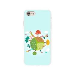 Funda Gel Tpu para Iphone 7 /  8 Diseño Familia Dibujos