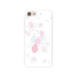 Funda Gel Tpu para Iphone 7 / 8 Diseño Flores-Minimal Dibujos