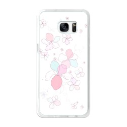 Funda Gel Tpu para Samsung Galaxy S7 Edge Diseño Flores-Minimal Dibujos
